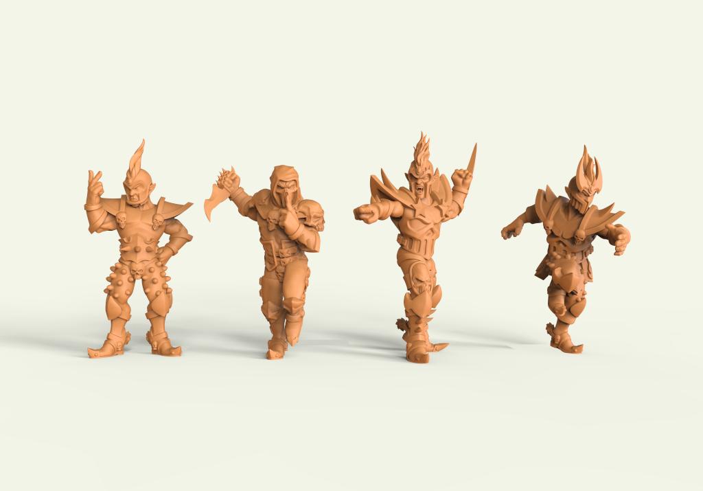 Iron Golems. Miniaturas 3D para wargame