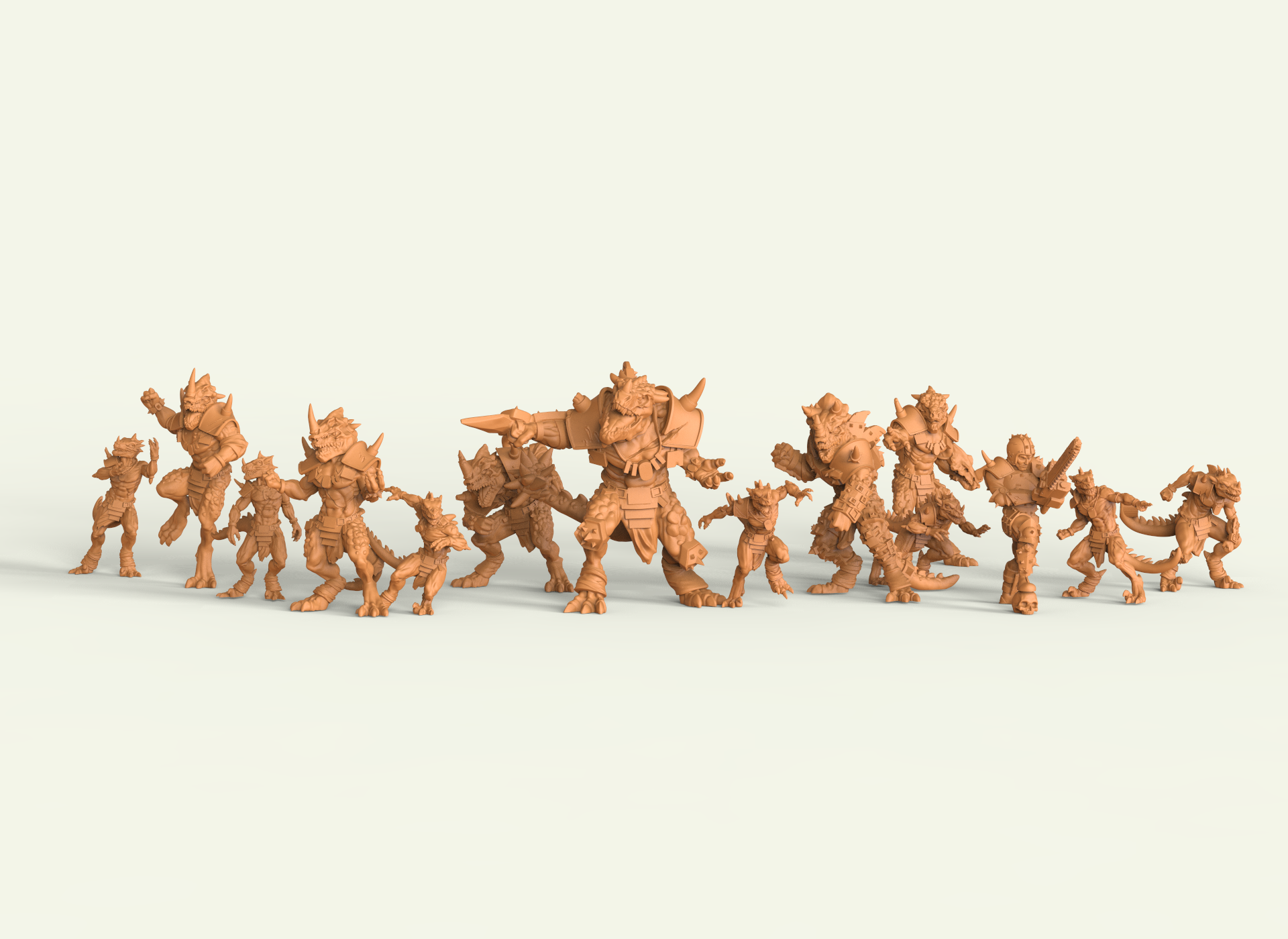 Miniaturas 3D para wargames