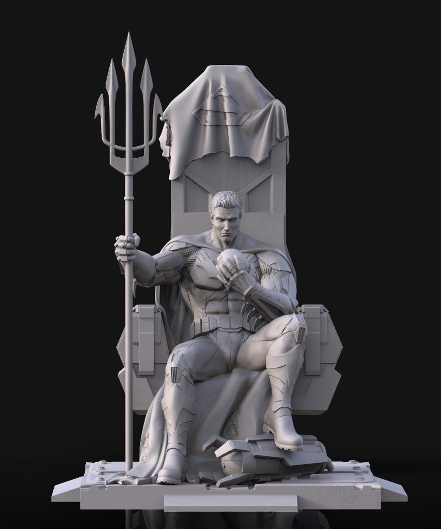 Figura 3D de Batman
