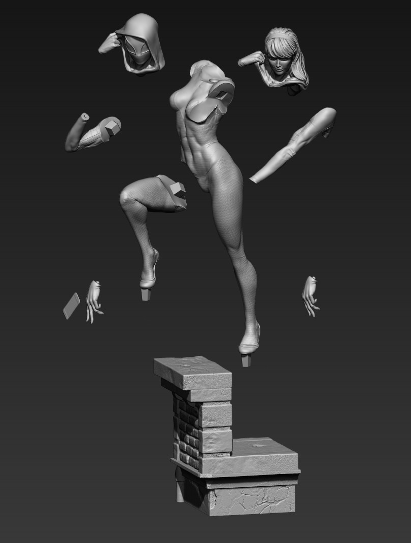 Figura 3D Gwen cortada