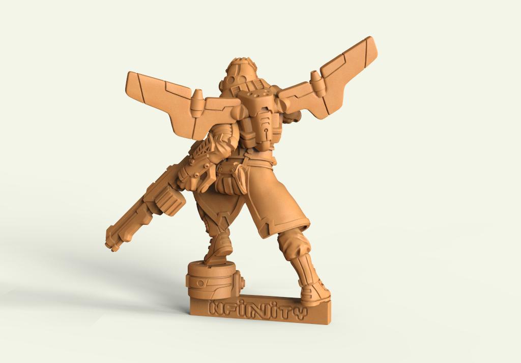 Miniatura 3D para wargame