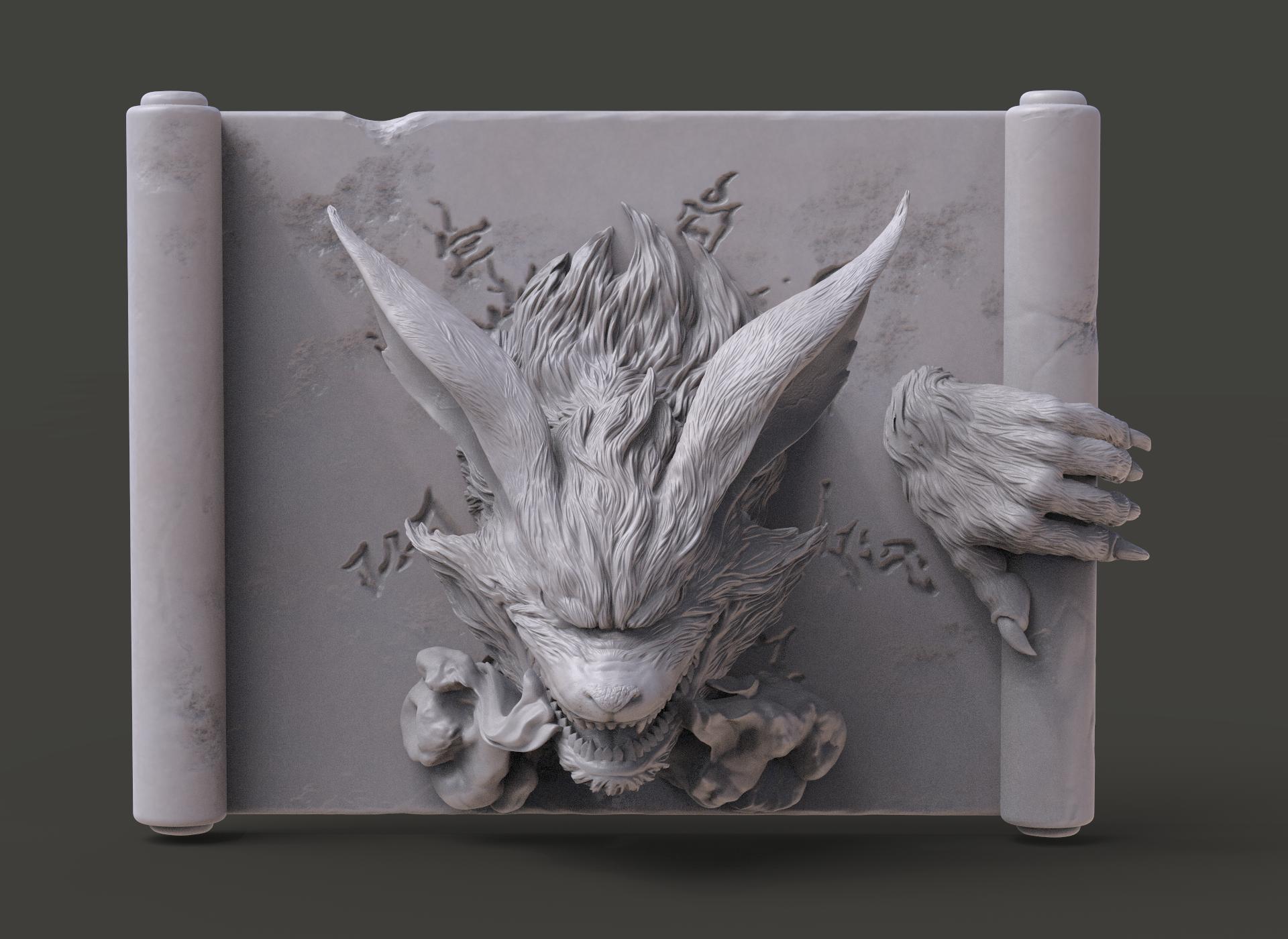 Figura 3D de Kurama