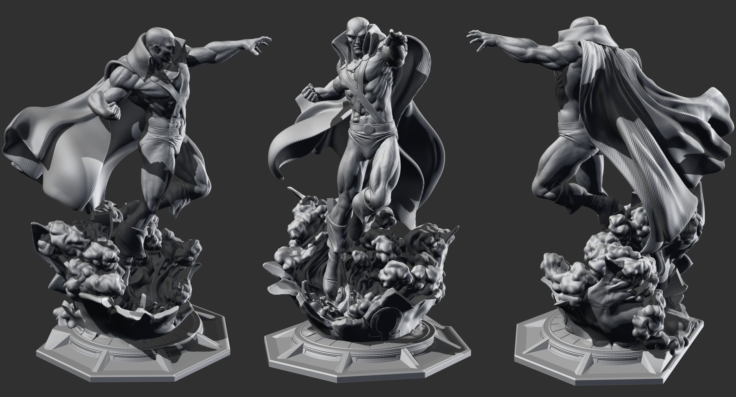 Escultura Digital de Martian Manhunter