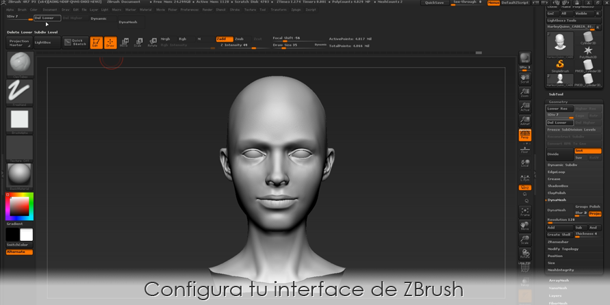 Configura tu interface de ZBrush