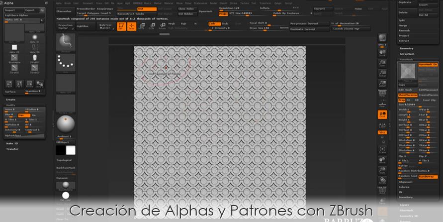 Creación de Alphas y Patrones con ZBrush