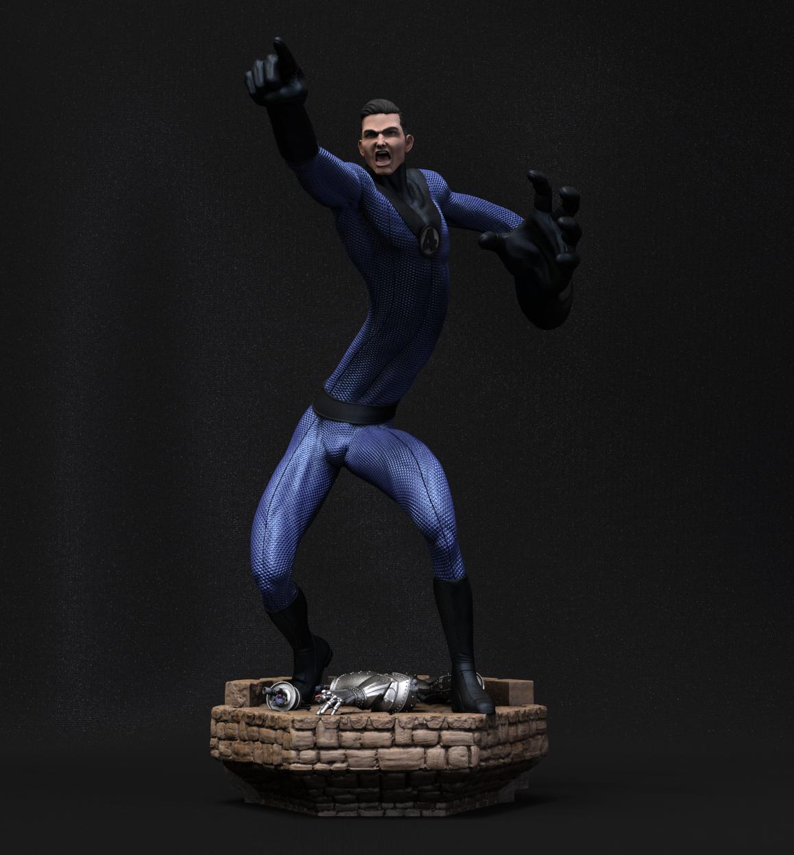 Escena 3D de los 4 Fantásticos: Mister Elástico