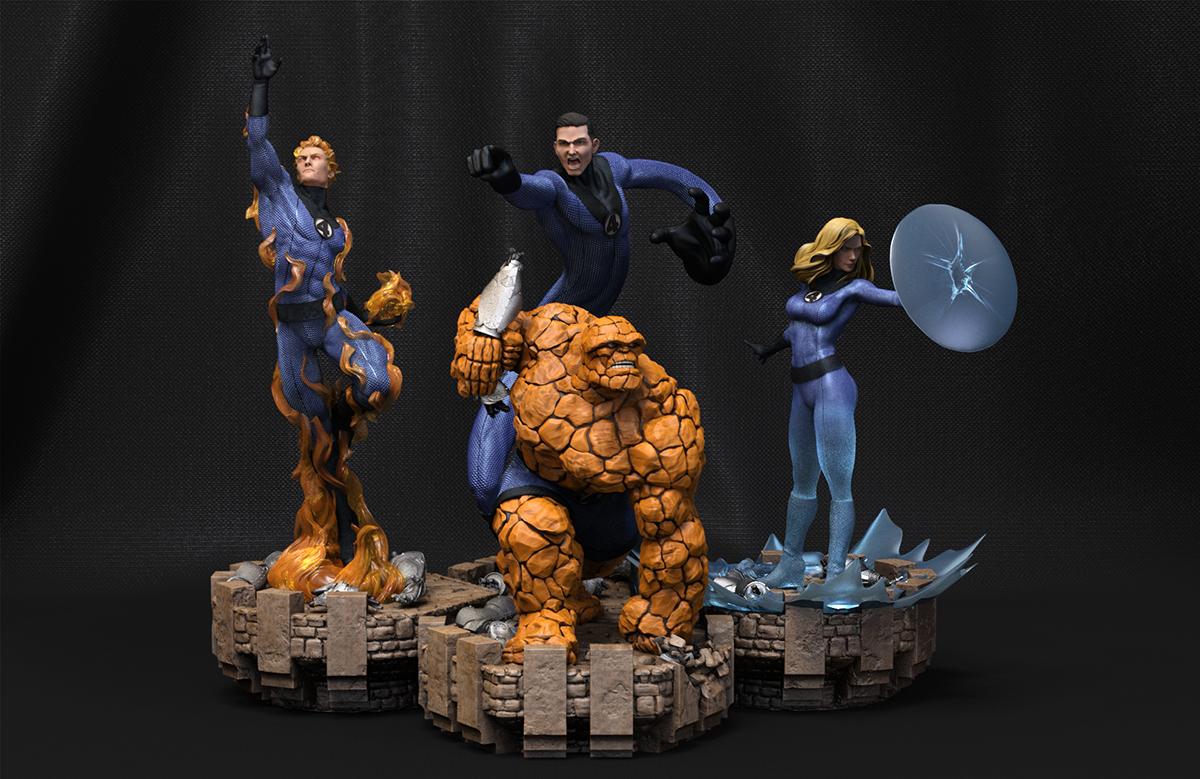 Fantastic Four 3D scene