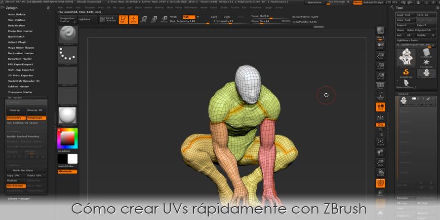 Cómo crear UVs rápidamente con ZBrush
