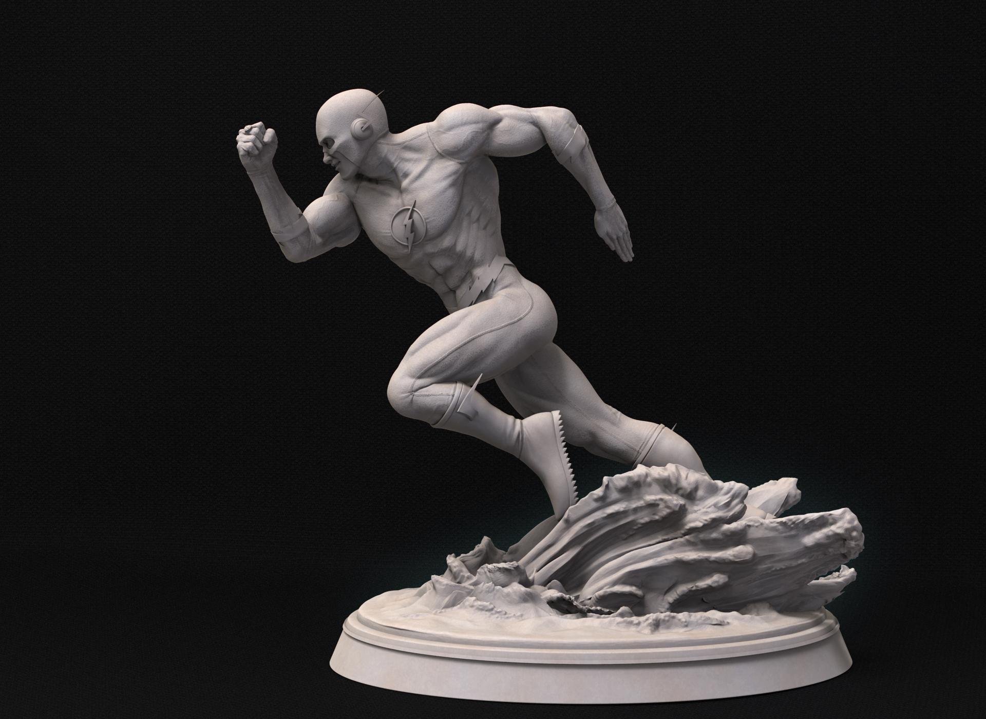 Figura de Flash con traje clásico