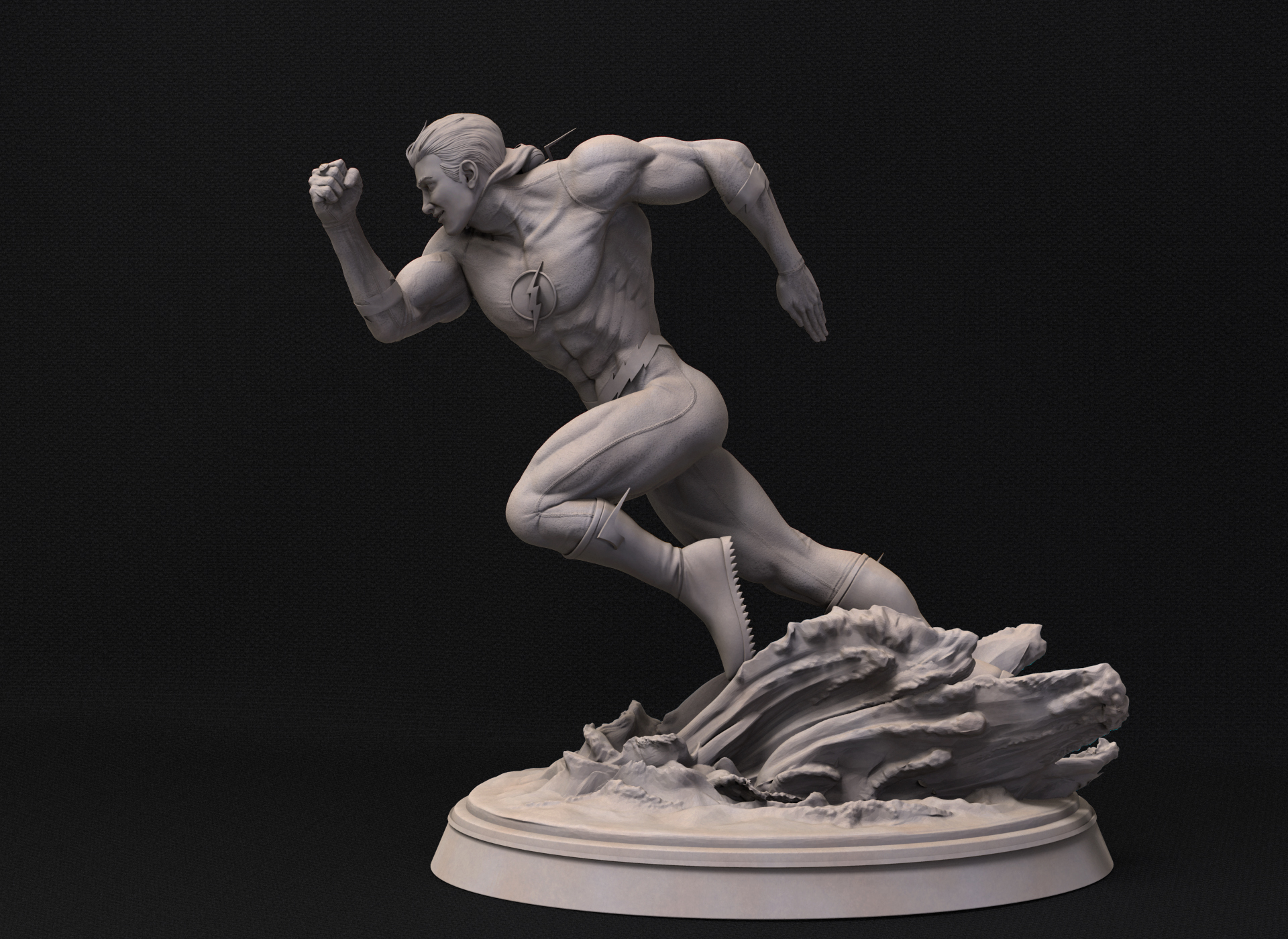 Figura de Flash con traje clásico sin máscara