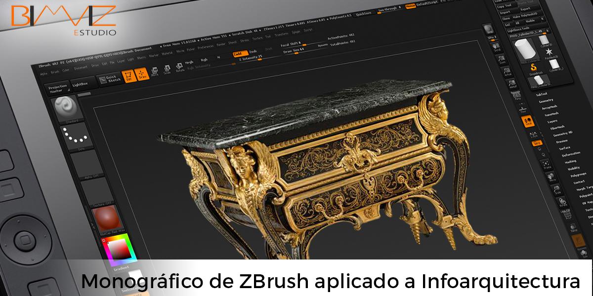 Curso monográfico de ZBrush aplicado a infoarquitectura