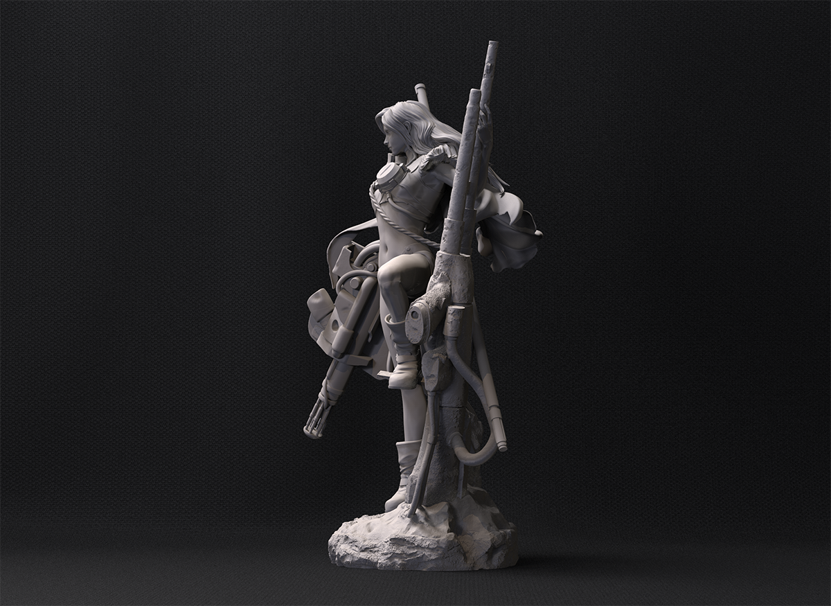 Modelado con ZBrush de figura Maschinen