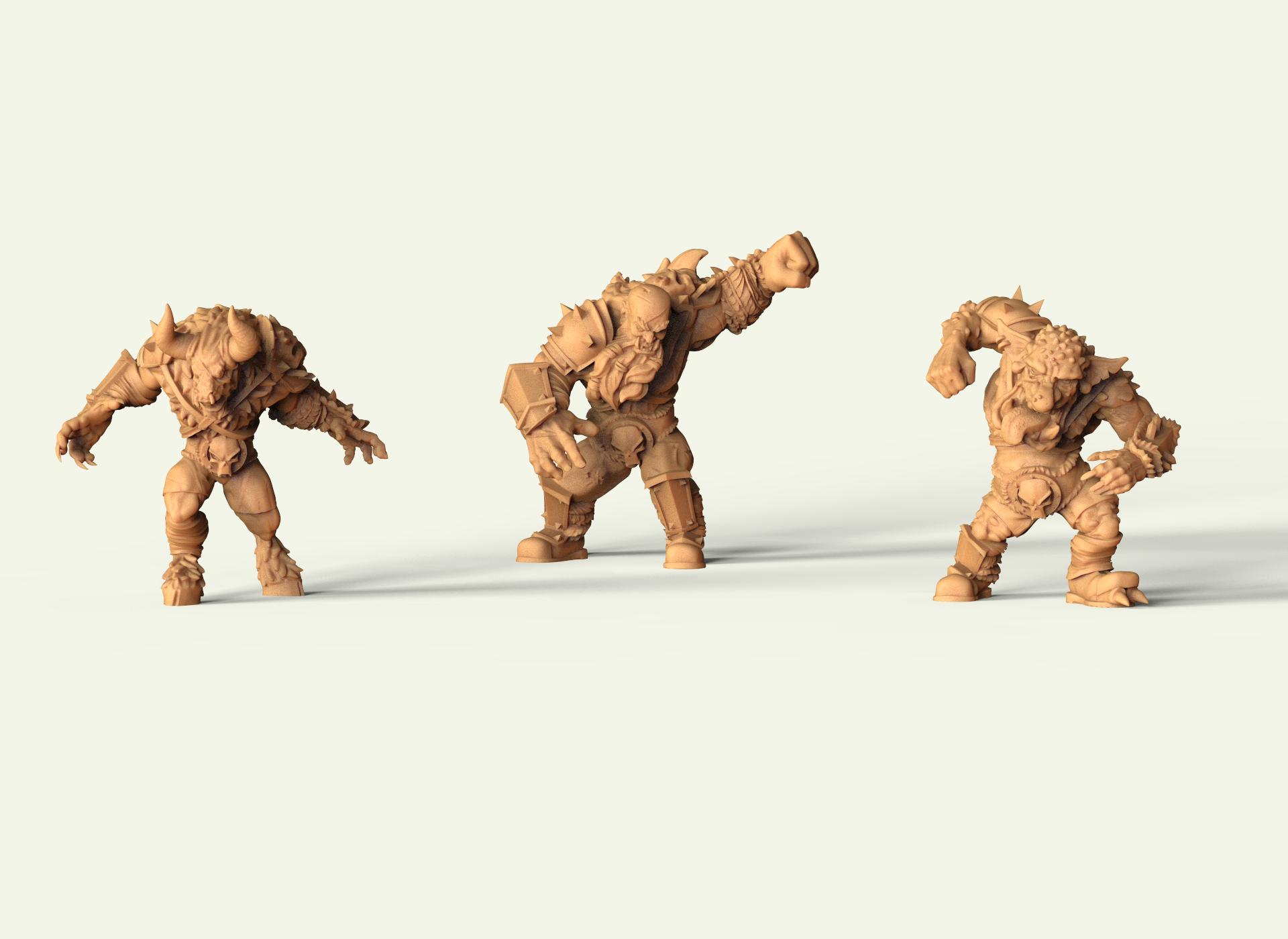 Miniaturas 3D Chaos Alliance