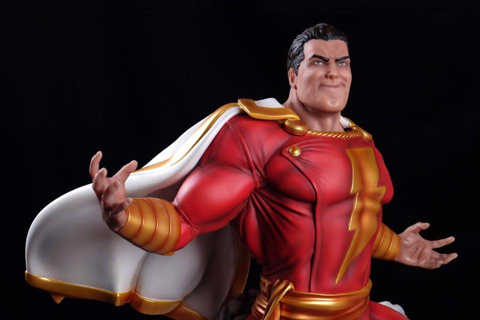 3d figure of painted Shazam