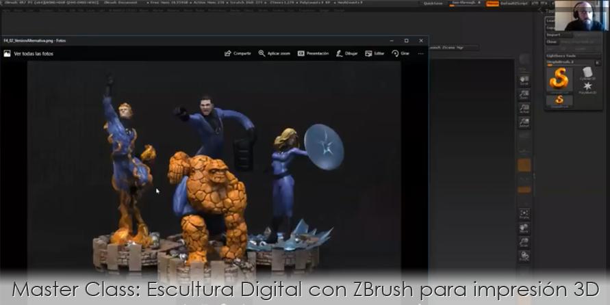 Master Class: Escultura Digital con ZBrush para impresión 3D