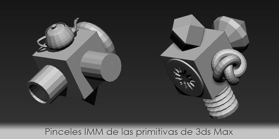 Pinceles IMM de las primitivas de 3ds Max