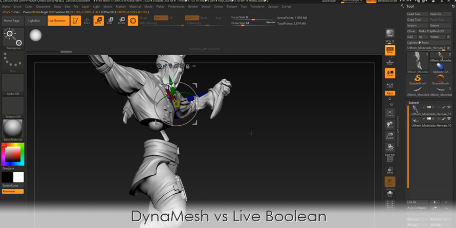 DynaMesh vs Live Boolean