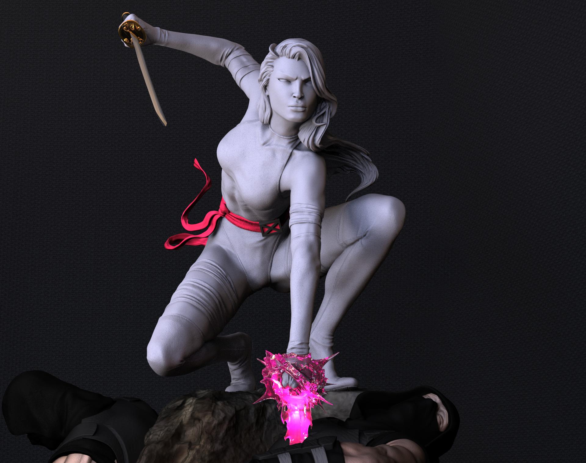 Escultura Digita de Psylocke