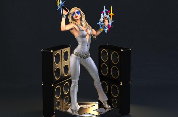 Escultura Digital de Dazzler