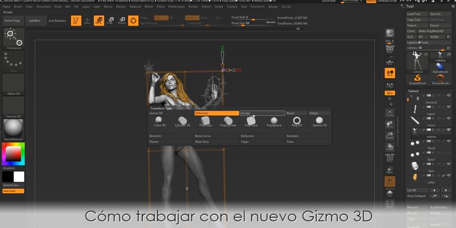 Cómo trabajar con el nuevo Gizmo 3D