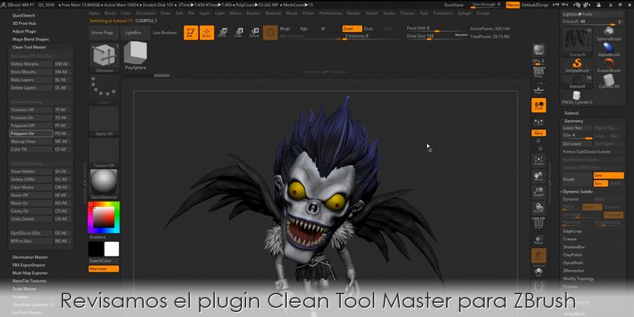 Revisamos el plugin Clean Tool Master para ZBrush