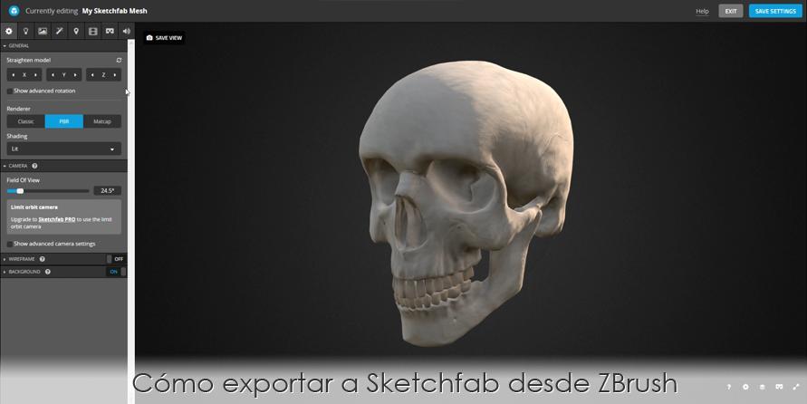 Cómo exportar a Sketchfab desde ZBrush