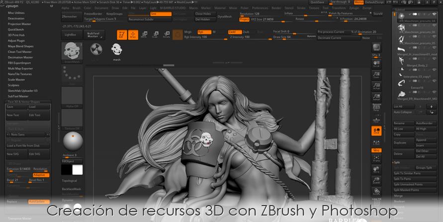 Creación de recursos 3D con ZBrush y Photoshop