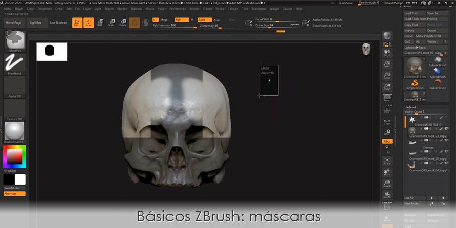 Básicos ZBrush: máscaras en ZBrush