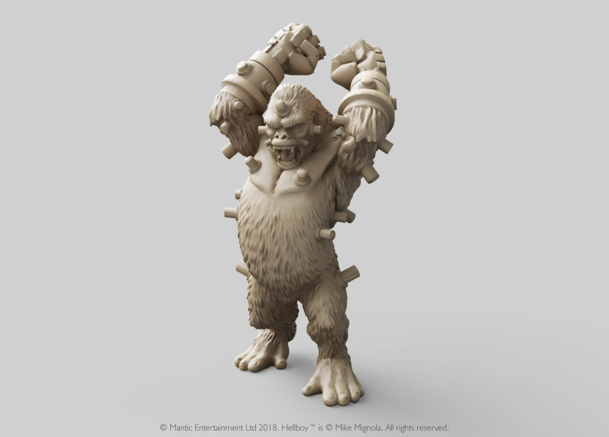 Miniatura de Hellboy personaje Gorila