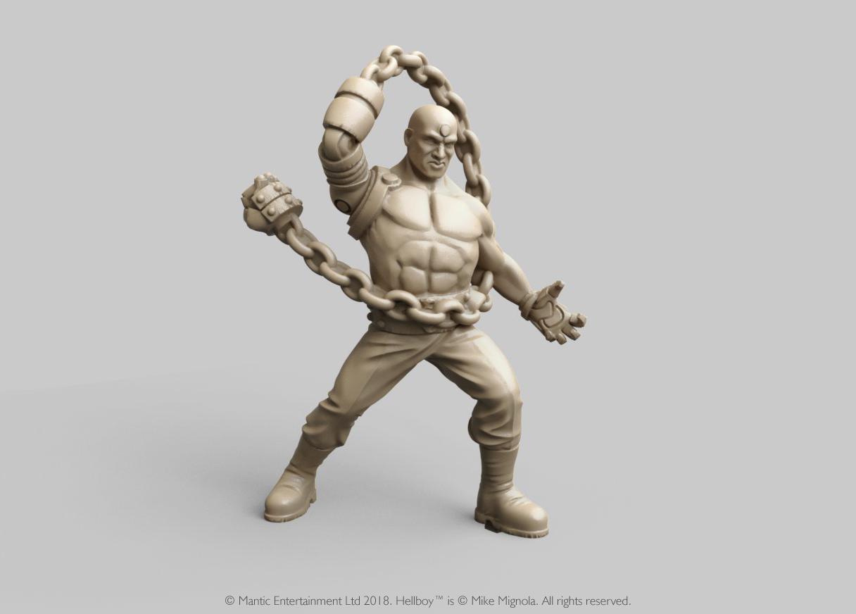 Miniatura de Hellboy personaje Unmensch