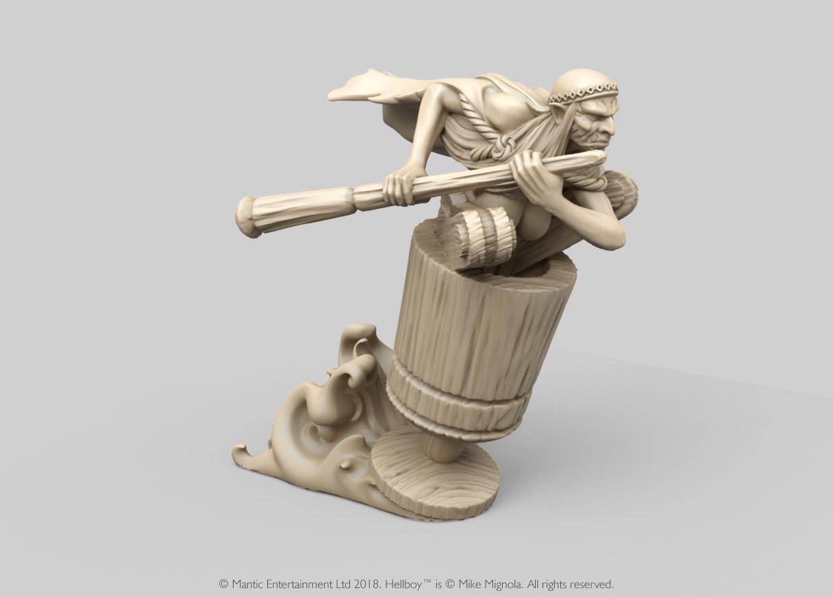Miniatura 3D de Hellboy personaje Baba