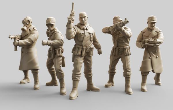 Miniaturas 3D de Hellboy personajes Nazis