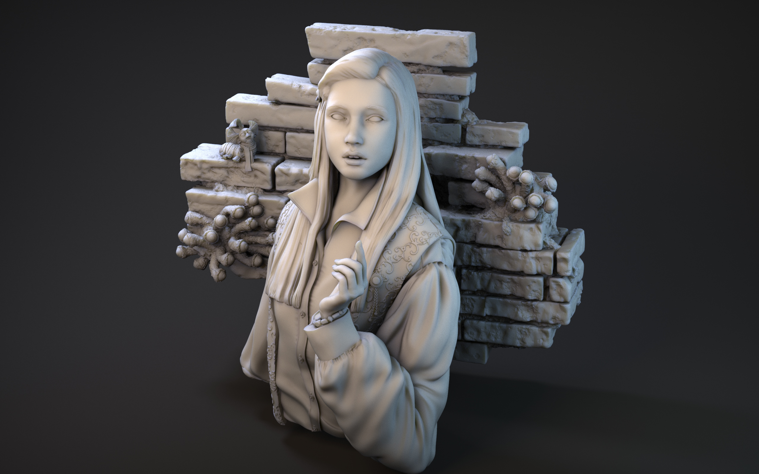 Miniaturas 3D Dentro del Laberinto Sarah