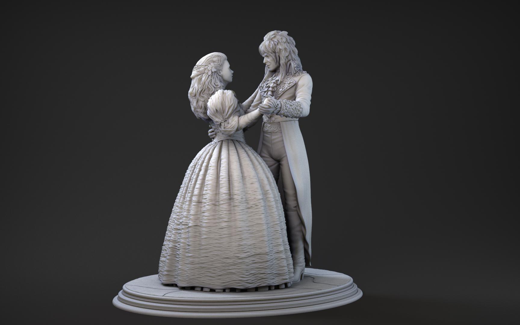 Miniatura 3D Sarah & Jareth Dentro del laberinto