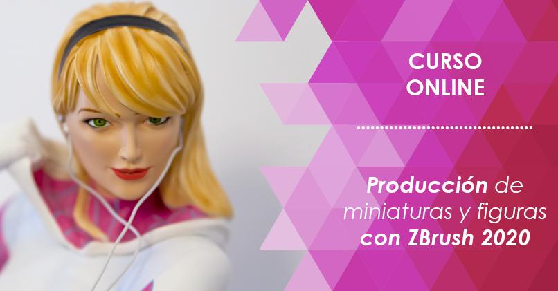 curso de producción de figuras y miniaturas con ZBrush