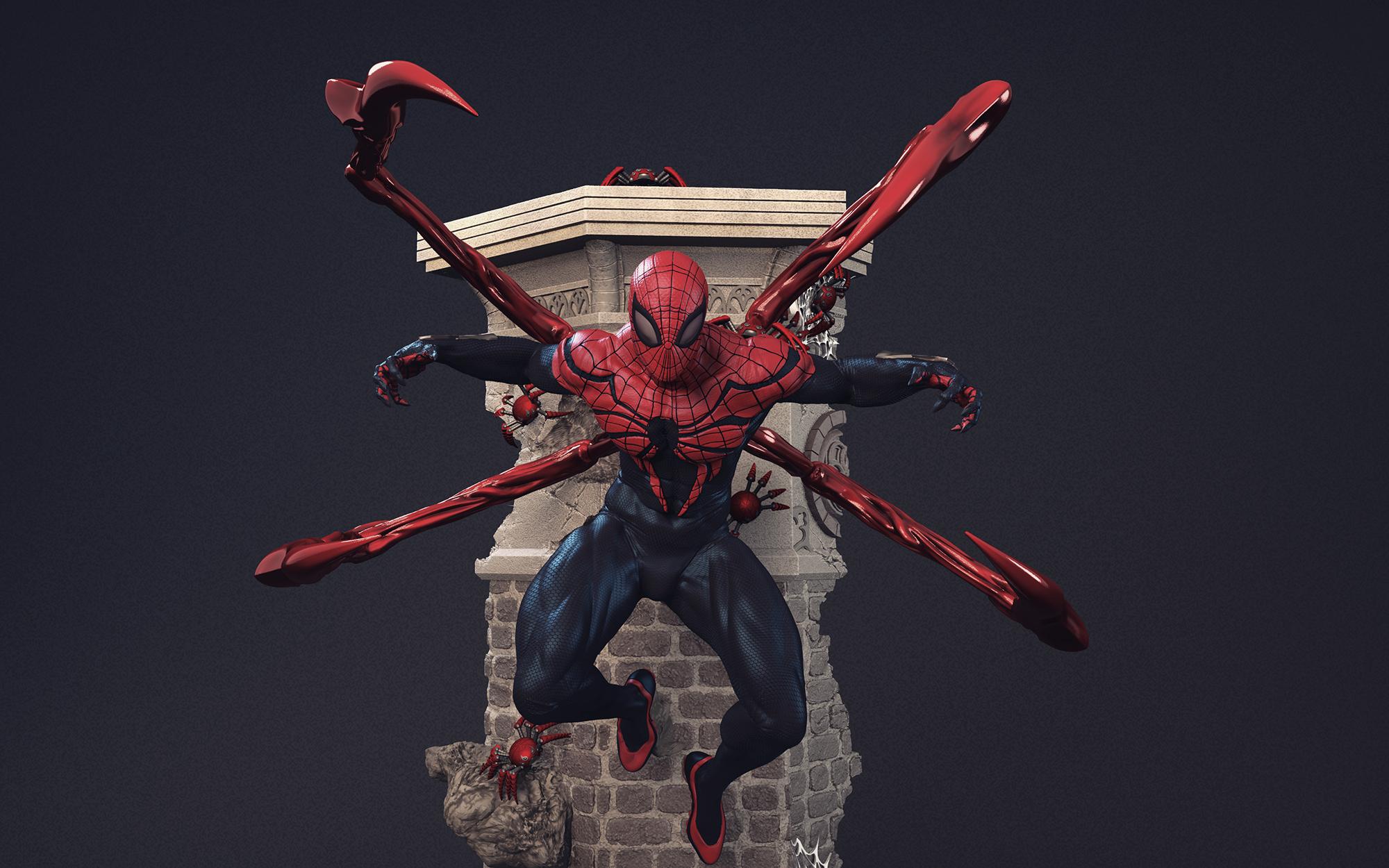 figura 3D de Superior Spider-Man