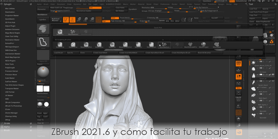 ZBrush 2021.6 y cómo facilita tu trabajo