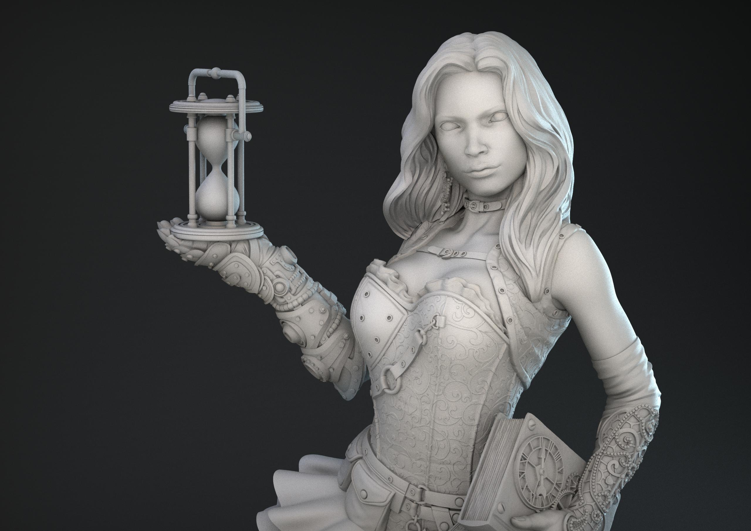 Steampunk lady miniatura