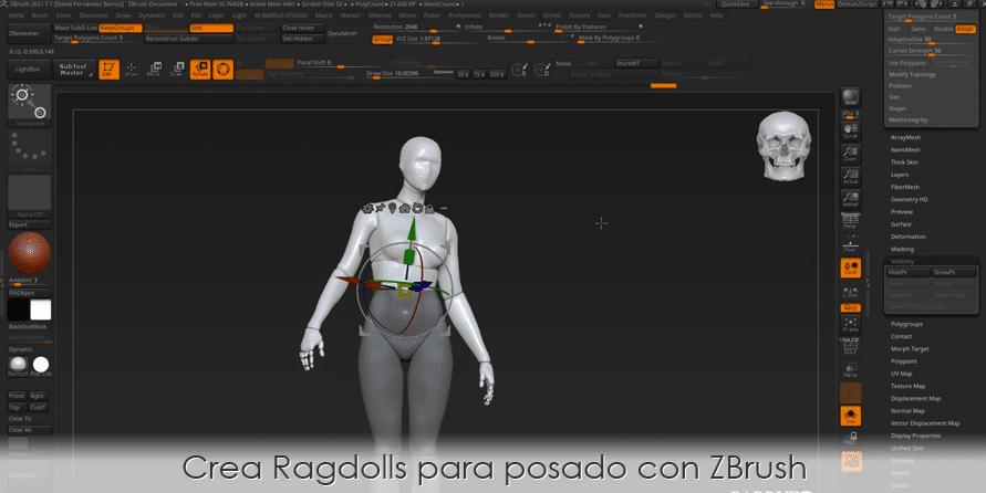 Crea Ragdolls para posado con ZBrush